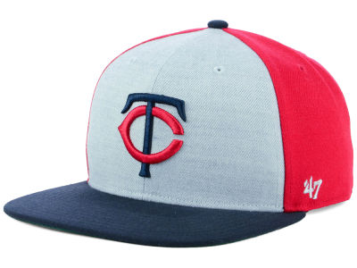 Minnesota Twins '47 MLB Heather Front Snapback Cap