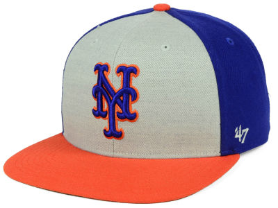 New York Mets '47 MLB Heather Front Snapback Cap