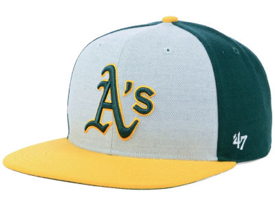 Oakland Athletics '47 MLB Heather Front Snapback Cap