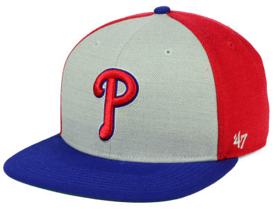Philadelphia Phillies '47 MLB Heather Front Snapback Cap