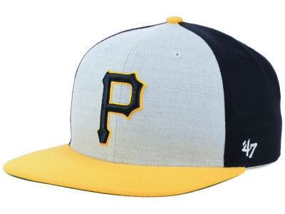 Pittsburgh Pirates '47 MLB Heather Front Snapback Cap