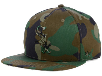 Chicago White Sox '47 MLB Camo Snapback Cap