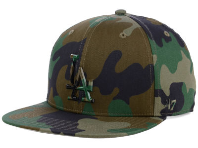 Los Angeles Dodgers '47 MLB Camo Snapback Cap