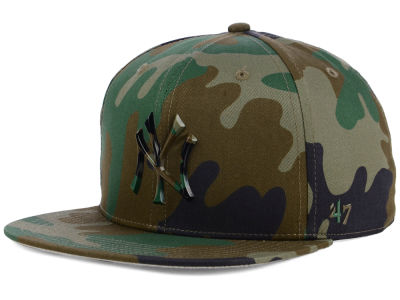 New York Yankees '47 MLB Camo Snapback Cap