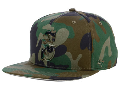 Seattle Mariners '47 MLB Camo Snapback Cap