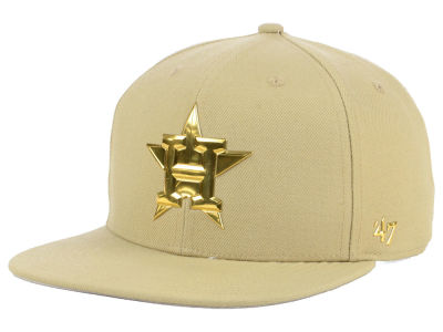 Houston Astros '47 MLB Khaki Snapback Cap