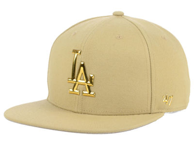 Los Angeles Dodgers '47 MLB Khaki Snapback Cap