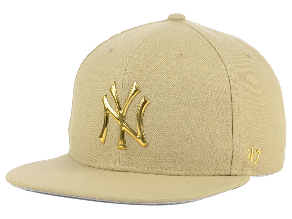 0d81f538323 New York Yankees  47 MLB Khaki Snapback Cap