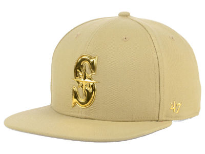 Seattle Mariners '47 MLB Khaki Snapback Cap