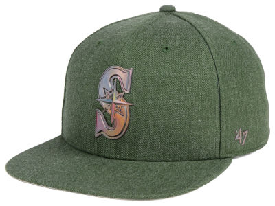 Seattle Mariners '47 MLB Olive Snapback Cap