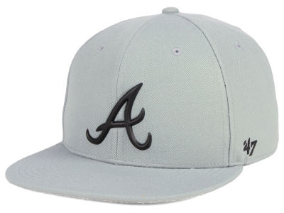 Atlanta Braves '47 MLB Gray Snapback Cap