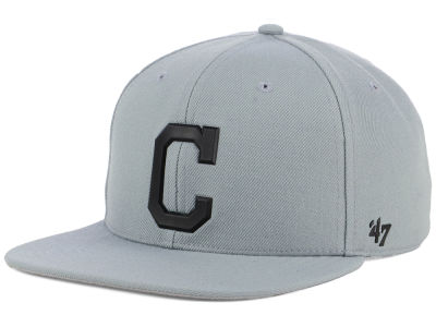 the latest bac15 9764a ... coupon for cleveland indians 47 mlb gray snapback cap 237fa 48be1
