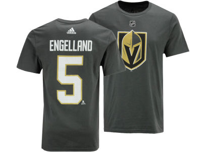 Vegas Golden Knights Deryk Engelland adidas NHL Men's Silver Player T-shirt
