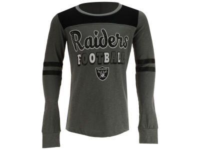 Oakland Raiders 5th & Ocean NFL Youth Slub Long Sleeve T-Shirt