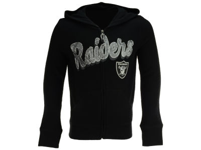 Oakland Raiders 5th & Ocean NFL Youth Girls Full Zip Jacket
