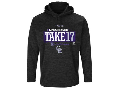Colorado Rockies Majestic 2017 MLB Men's Postseason Ultra Fleece Hoodie