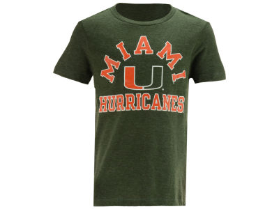 Miami Hurricanes Retro Brand NCAA Youth Dual Blend T-Shirt