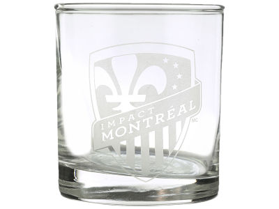 Montreal Impact Etched Rocks Glasses - 2pk