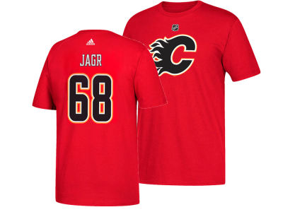 Calgary Flames Jaromir Jagr adidas NHL Men's Silver Player T-shirt