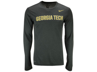 Georgia Tech Nike NCAA Men's Dri-Fit Legend Wordmark Long Sleeve T-shirt