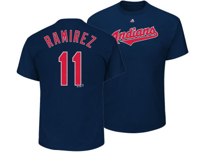Cleveland Indians Jose Ramirez Majestic MLB Men's Official Player T-Shirt