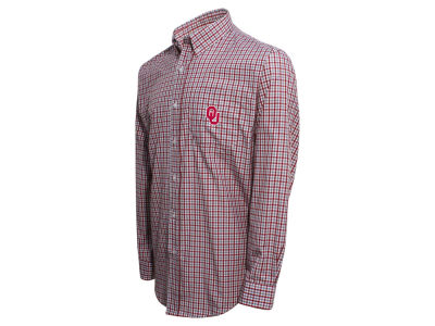 Oklahoma Sooners Vesi NCAA Men's Gingham Check Button Down Shirt