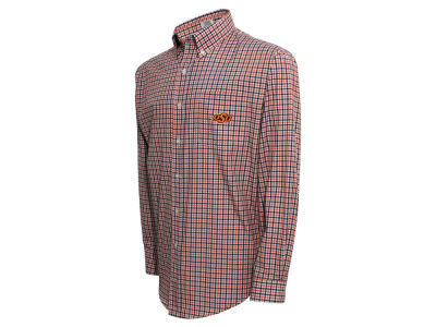 Oklahoma State Cowboys NCAA Men's Gingham Check Button Down Shirt