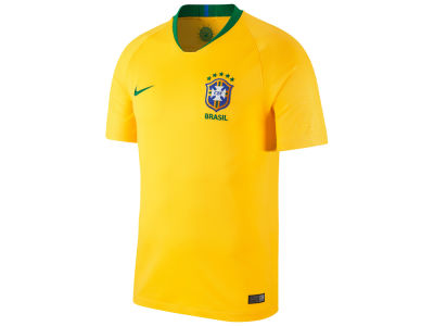 Brazil Nike National Team Home Stadium Jersey