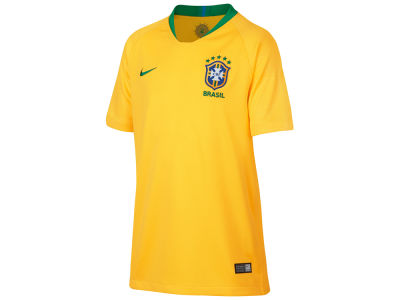 Brazil Nike 2018 Youth National Team Home Stadium Jersey