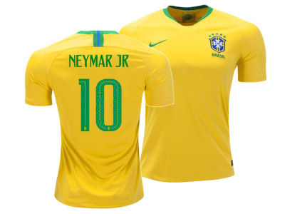Brazil Neymar  Nike 2018 Youth National Team Home Stadium Jersey