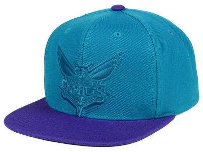 Charlotte Hornets Mitchell & Ness NBA Cropped Satin Snapback Cap