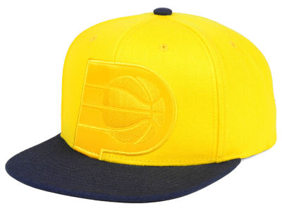 Indiana Pacers Mitchell & Ness NBA Cropped Satin Snapback Cap