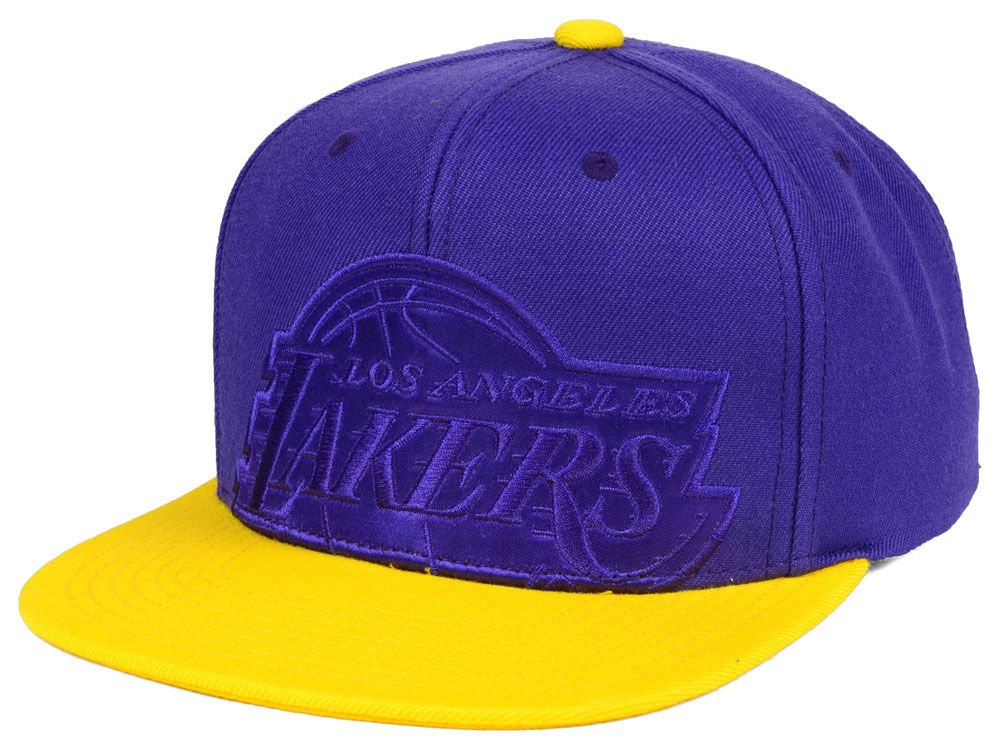 promo code 619f4 d1cec ... amazon los angeles lakers mitchell ness nba cropped satin snapback cap  269b1 9359a