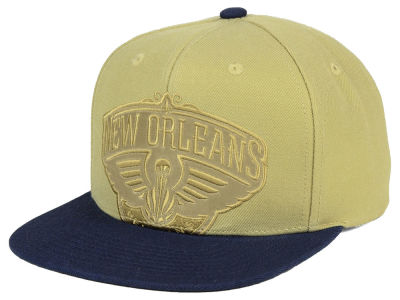 New Orleans Pelicans Mitchell & Ness NBA Cropped Satin Snapback Cap