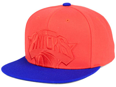 New York Knicks Mitchell & Ness NBA Cropped Satin Snapback Cap