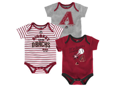 Arizona Diamondbacks Majestic MLB Newborn Homerun 3pc Set