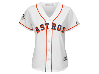 Houston Astros Majestic 2017 MLB Women's World Series Patch Jersey