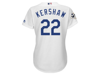 Los Angeles Dodgers Clayton Kershaw Majestic 2017 MLB Women's World Series Player Patch Jersey