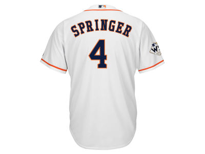 Houston Astros George Springer 2017 MLB Men's World Series Patch Player Jersey