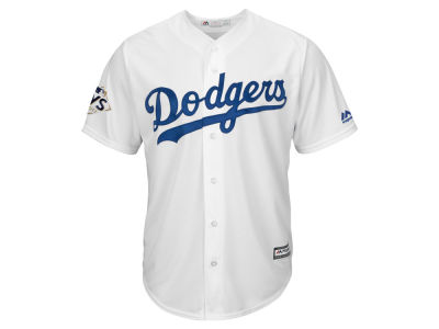 Los Angeles Dodgers Majestic 2017 MLB Men's World Series Patch Replica Jersey