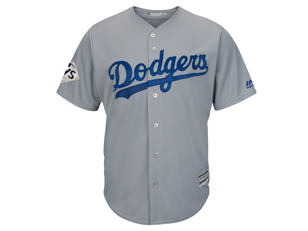 Los Angeles Dodgers Majestic 2017 MLB Men s World Series Patch Replica  Jersey  2b382520d9d