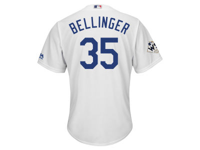 Los Angeles Dodgers Cody Bellinger Majestic 2017 MLB Men's World Series Patch Player Jersey