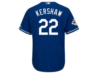 Los Angeles Dodgers Clayton Kershaw Majestic 2017 MLB Men's World Series Patch Player Jersey
