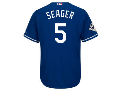 Los Angeles Dodgers Corey Seager Majestic 2017 MLB Men's World Series Patch Player Jersey