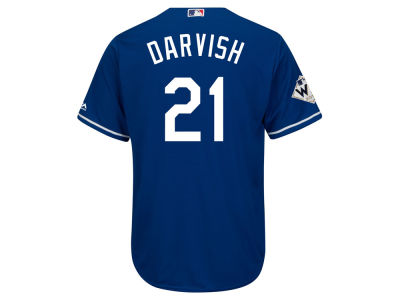Los Angeles Dodgers Yu Darvish 2017 MLB Men's World Series Patch Player Jersey