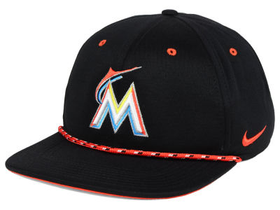 Miami Marlins Nike MLB String Bill Snapback Cap