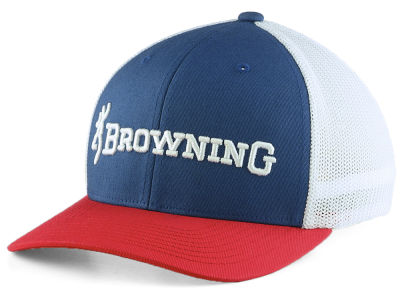 Browning Red White Blue Stretch Cap