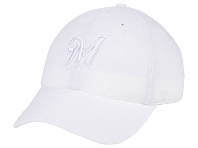 Milwaukee Brewers '47 MLB White/White '47 CLEAN UP Cap