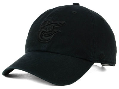 Baltimore Orioles '47 MLB Black on Black CLEAN UP Cap