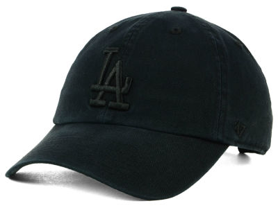 Los Angeles Dodgers '47 MLB Black on Black CLEAN UP Cap
